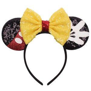 Yellow Mickey Glitter Mouse Ear Bow Headbands